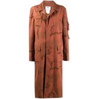 Marine Serre cappotto midi - arancione