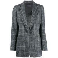 Lorena Antoniazzi blazer monopetto a quadri - grigio