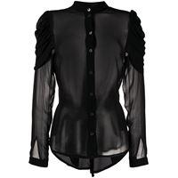 Ann Demeulemeester camicia semi trasparente - nero