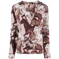 Kenzo blusa con stampa - viola