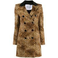 Redemption cappotto monopetto con stampa - marrone