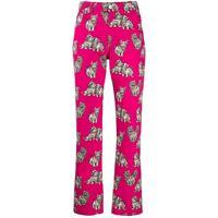MSGM pantaloni donna 2741mdp4119565014 cotone fucsia