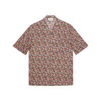 Gucci camicia liberty a fiori - di colore rosa