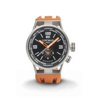 Locman orologio Locman montecristo world dual time con cassa acciaio e titanio e cinturino silicone arancio 0508a01s-00bkwhso