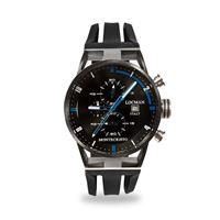 Locman orologio Locman montecristo crono con cassa acciaio e titanio pvd e cinturino silicone nero 0510knbkfbl0gok
