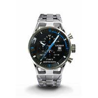 Locman orologio Locman montecristo crono con cassa acciaio titanio nero e blu 051000bkfbl0br0