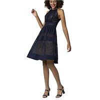 APART Fashion dress with lace vestito elegante, blu (nacht. Blau nacht. Blau), 52 (taglia unica: 46) donna