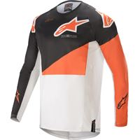 Alpinestars maglia cross Alpinestars techstar factory nero bianco arancio
