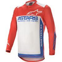 Alpinestars maglia cross Alpinestars racer supermatic rosso bianco blu