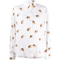 Fiorucci camicia con stampa - bianco