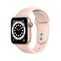 Apple novità Apple watch series 6 (gps + cellular, 40 mm) cassa in alluminio color oro con cinturino sport rosa sabbia