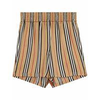 BURBERRY shorts donna 8014286 seta beige