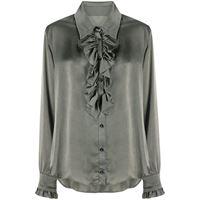 Uma Wang blusa con ruches - grigio