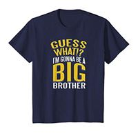 Gonna be a big brother tee team bambino guess what!?I'm gonna be a big brother t-shirt brothers maglietta