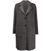 TWINSET cappotto monopetto a quadri - nero