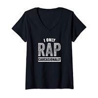 Ingenius Rap Maglie Di Musica donna maglietta bianca rapper divertente rap t shirt maglietta con collo a v