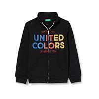 United Colors of Benetton 3j68c5826 maglione cardigan, nero 100, 2xl bambina