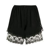 Dolce & Gabbana shorts con bordo in pizzo - nero