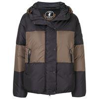 Save The Duck giacca con cappuccio color block con piume sintetiche - nero