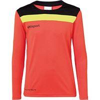 uhlsport offense 23 goalkeeper set junior, shirt unisex adulto, arancione/nero/giallo (dynamic orange/negro/amar), 116