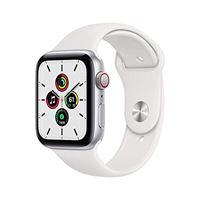 Apple novità Apple watch se (gps + cellular, 44 mm) cassa in alluminio color argento con cinturino sport bianco