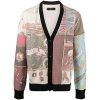 AMIRI cardigan con design patchwork - toni neutri