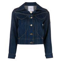 Patou giacca denim con applicazione - blu