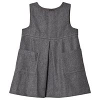 Jacadi - bambina - abito in tessuto felpato - 6 mesi - grigio