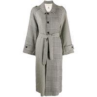 Barena cappotto oversize a quadri - nero