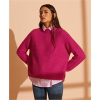 Superdry maglione girocollo a coste super lux