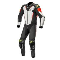 ALPINESTARS atem v3 leather suit - (black/white/red fluo/yellow fluo)