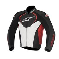 ALPINESTARS jaws leather jacket - (black/white/red)