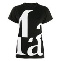 Maison Margiela t-shirt a girocollo marg' - nero