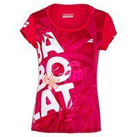 Babolat exercise graphic tee w, maglietta donna, rosa rossa, xo