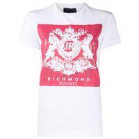 John Richmond t-shirt con stampa - bianco