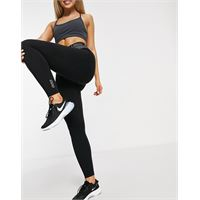 Lorna Jane - leggings a vita elasticizzata a v neri-nero