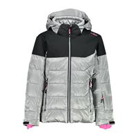 Cmp g jacket snaps hood 4 years silver