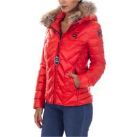 BLAUER piumino blauer donna cappuccio rosso
