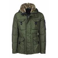 Peuterey giacca aiptek con cappuccio e collo in pelliccia staccabile