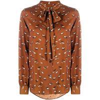 Altea camicia con fiocco - marrone