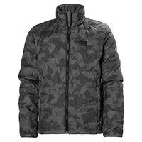 Helly Hansen helly-hansen jr lifaloft ins jacket giacca unisex bambini, unisex - bambini, giacca, 41683, grigio (964 charcoal camo), 152/12