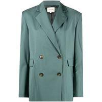 Loulou Studio blazer doppiopetto - verde