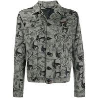 Philipp Plein giacca con stampa - grigio