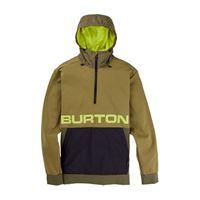 BURTON felpa 1/2 zip con cappuccio crown bonded performance