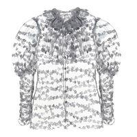 Rodarte blusa in organza con glitter