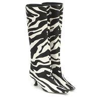 Magda Butrym stivali in cavallino zebrato