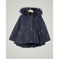 Elsy cappotto blu con cappuccio e pelliccia staccabile 3-7 anni