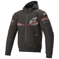 Alpinestars sektor v2 tech full zip sweatshirt xxxl black / bright red