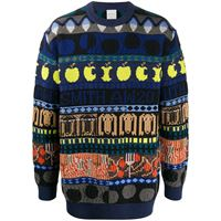 PAUL SMITH maglione con stampa - blu