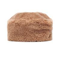 Max Mara cappello colby in cammello e seta